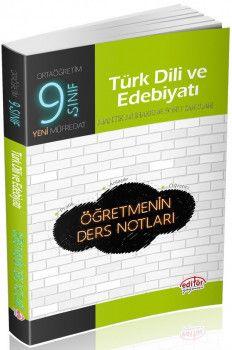 Editör Yayınları 9. Sınıf Türk Dili ve Edebiyatı Öğretmenin Ders Notları
