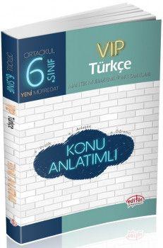 Editör Yayınları 6. Sınıf Vip Türkçe Konu Anlatımlı