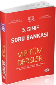Editör Yayınları 5. Sınıf Tüm Dersler VIP Soru Bankası Kırmızı Kitap