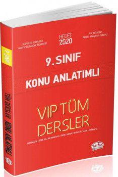Editör Yayınları 9. Sınıf Tüm Dersler VIP Konu Anlatımlı Kırmızı Kitap