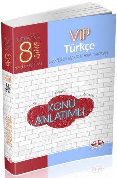 Editör Yayınları 8. Sınıf Vip Türkçe Konu Anlatımı