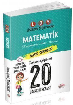 Editör Yayınları 8. Sınıf LGS Matematik 20 Deneme