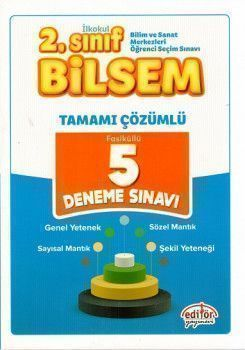 Editör Yayınları 2. Sınıf Bilsem 5 Çözümlü deneme Sınavı