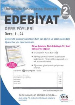 Eis Yayınları Üniversiteye Hazırlık Edebiyat Ders Föyleri 2. Kitap
