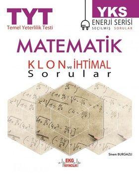 EKG Yayıncılık TYT Matematik Klon ve İhtimal Sorular Enerji Serisi