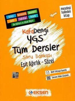 Eksen Yayınları Kafa Dengi YGS Eşit Ağırlık Sözel Tüm Dersler Soru Bankası