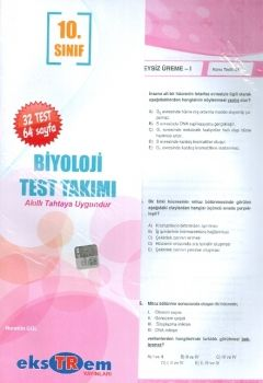 Ekstrem 10. Sınıf Biyoloji Çek Kopar Test Takımı