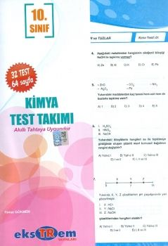Ekstrem 10. Sınıf Kimya Çek Kopar Test Takımı