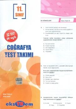 Ekstrem 11. Sınıf Coğrafya Çek Kopar Test Takımı