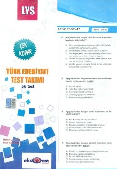 Ekstrem LYS Türk Edebiyatı Çek Kopar Test Takımı