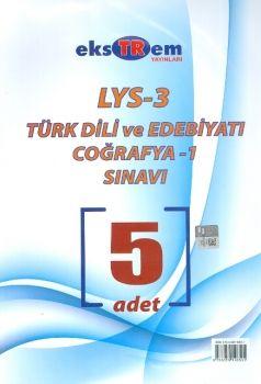 Ekstrem Yayınları LYS 3 Coğrafya 1 Türk Dili ve Edebiyatı 5 Deneme Sınavı