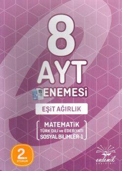Endemik Yayınları YKS 2. Oturum AYT Eşit Ağırlık 8 Deneme