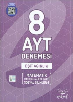 Endemik Yayınları AYT Eşit Ağırlık 8 li Denemesi