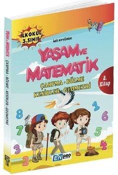 Enpro Yayınları 3. Sınıf 2. Kitap Çarpma Bölme Kesirler Geometri Yaşam ve Matematik