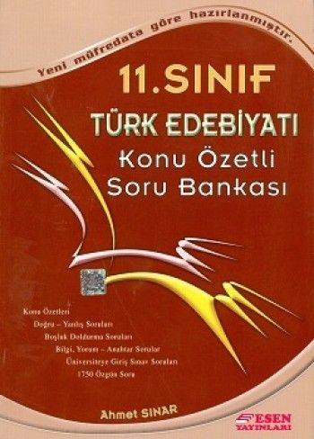 Esen 11.Sınıf Türk Edebiyatı Konu Özetli Soru Bankası