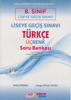Esen Üçrenk Yayınları 8. Sınıf LGS Türkçe Soru Bankası