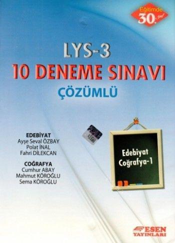 Esen LYS 3 Çözümlü 10 Deneme