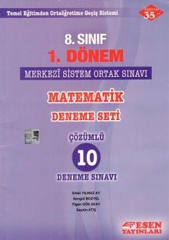 Esen Yayınları 8. Sınıf 1. Dönem Matematik Merkezi Sistem Ortak Sınavı Deneme Seti
