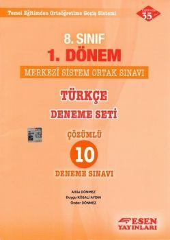 Esen Yayınları 8. Sınıf 1. Dönem Türkçe Merkezi Sistem Ortak Sınavı Deneme Seti