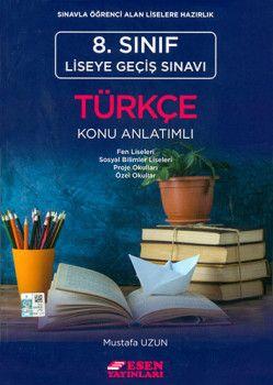 Esen Yayınları 8. Sınıf LGS Türkçe Konu Anlatımlı