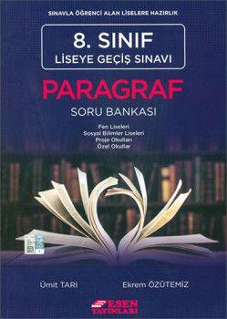 Esen Yayınları 8. Sınıf LGS Paragraf Soru Bankası