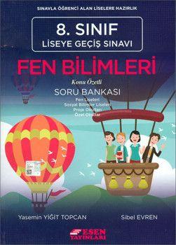 Esen Yayınları 8. Sınıf LGS Fen Bilimleri Konu Özetli Soru Bankası