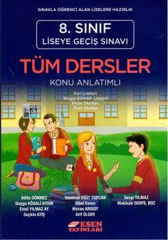 Esen Yayınları 8. Sınıf LGS Tüm Dersler Konu Anlatımlı