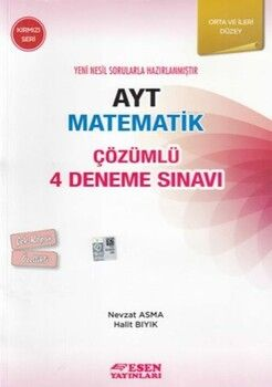 Esen Yayınları AYT Matematik Çözümlü 4 Deneme Sınavı Kırmızı Seri