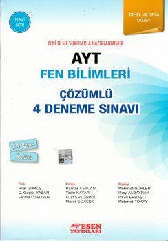 Esen Yayınları AYT Fen Bilimleri Çözümlü 4 Deneme Sınavı