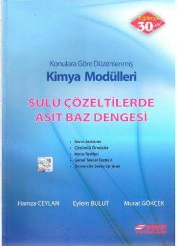 Esen Yayınları Kimya Modülleri Sulu Çözeltilerde Asit Baz Dengesi