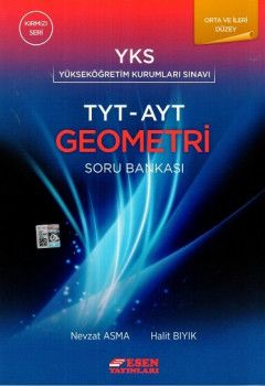 Esen Yayınları TYT AYT Orta ve İleri Düzey Geometri Soru Bankası Kırmızı Seri