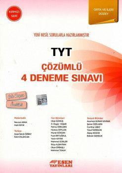 Esen Yayınları TYT 4 Deneme Sınavı Kırmızı Seri