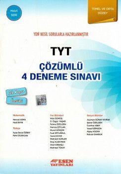 Esen Yayınları TYT 4 Çözümlü Deneme Sınavı Mavi Seri