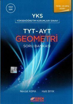 Esen Yayınları TYT AYT Geometri Temel ve Orta Düzey Soru Bankası Mavi Seri