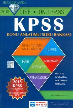 Evrensel Akademi 2018 KPSS Lise Ön Lisans Hepsi Bir Arada Konu Anlatımlı Soru Bankası