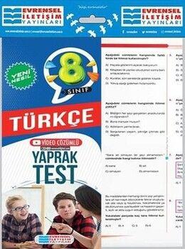 Evrensel İletişim 8. Sınıf Türkçe Yeni Nesil Video Çözümlü Yaprak Test