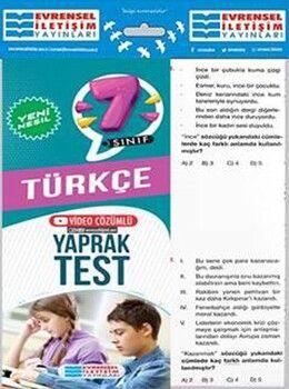 Evrensel İletişim 7. Sınıf Türkçe Yeni Nesil Video Çözümlü Yaprak Test