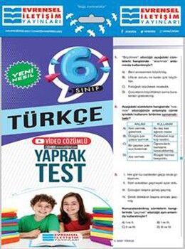 Evrensel İletişim 6. Sınıf Türkçe Yeni Nesil Video Çözümlü Yaprak Test