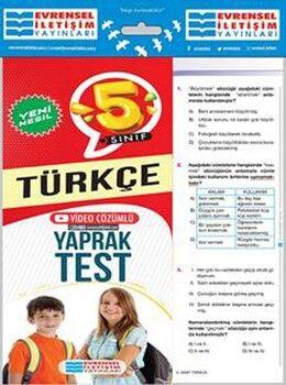 Evrensel İletişim 5. Sınıf Türkçe Yeni Nesil Video Çözümlü Yaprak Test