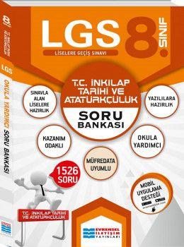 Evrensel İletişim Yayınları 8. Sınıf LGS T.C. İnkılap Tarihi ve Atatürkçülük Soru Bankası