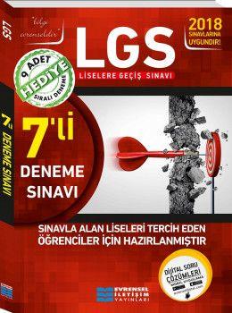 Evrensel İletişim Yayınları 8. Sınıf LGS 7 li Video Çözümlü Deneme Sınavı 9 Adet Sıralı Deneme Hediyeli