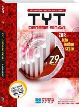 Evrensel İletişim Yayınları YKS 1. Oturum TYT Z9 İleri Seviye Video Çözümlü Deneme Sınavı