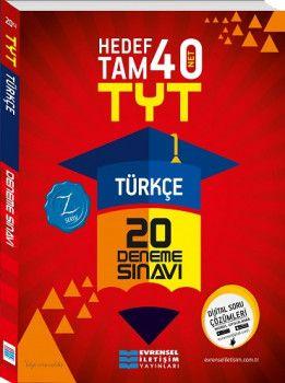 Evrensel İletişim YKS 1. Oturum TYT Türkçe Hedef Tam 40 Net 20 Deneme Sınavı