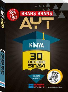 Evrensel İletişim Yayınları YKS 2. Oturum AYT Kimya Video Çözümlü 30 Deneme Sınavı