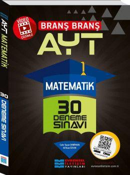 Evrensel İletişim Yayınları YKS 2. Oturum AYT Matematik Video Çözümlü 30 Deneme Sınavı