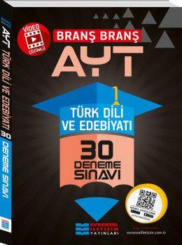 Evrensel İletişim Yayınları YKS 2. Oturum AYT Türk Dili ve Edebiyatı Video Çözümlü 30 Deneme Sınavı