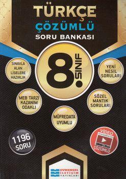 Evrensel İletişim 8. Sınıf Türkçe Çözümlü Soru Bankası