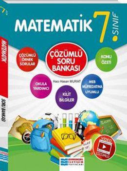 Evrensel İletişim Yayınları 7. Sınıf Matematik Video Çözümlü Soru Bankası