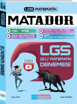 Evrensel İletişim Yayınları LGS Matematik Matador 15li Matematik Denemesi