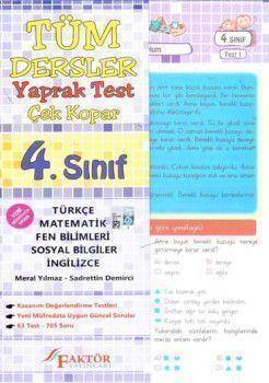 Faktör Yayınları 4. Sınıf Tüm Dersler Yaprak Test